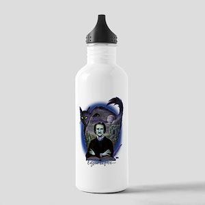 Edgar Allan Poe Black Stainless Water Bottle 1.0L