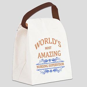 Nursing Supervisor Canvas Lunch Bag