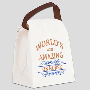 OB Nurse Canvas Lunch Bag