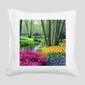 beautiful garden 2 Square Canvas Pillow