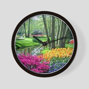 beautiful garden 2 Wall Clock