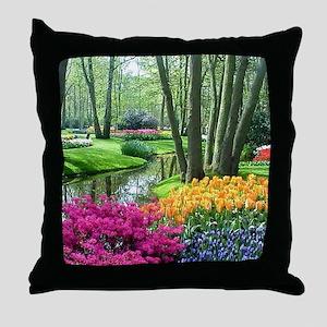 beautiful garden 2 Throw Pillow
