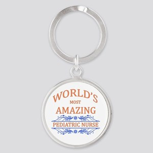 Pediatric Nurse Round Keychain