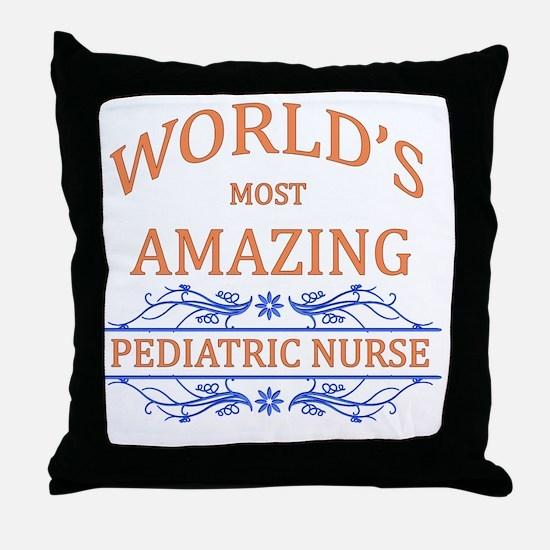 Pediatric Nurse Throw Pillow