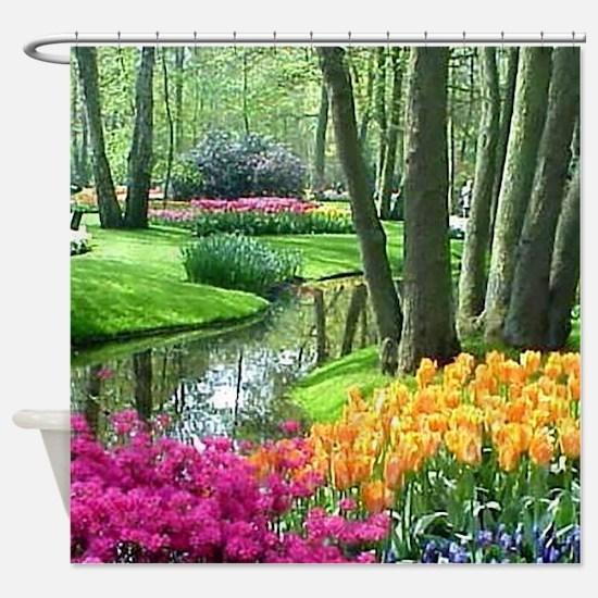 Funny Gardener Shower Curtain