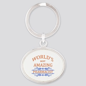Pharmacist Oval Keychain
