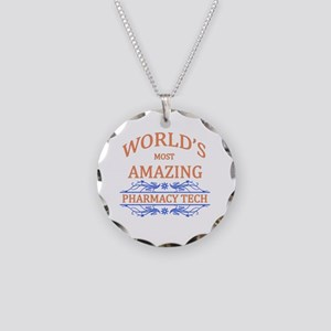 Pharmacy Tech Necklace Circle Charm