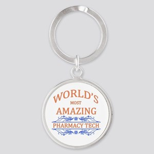 Pharmacy Tech Round Keychain