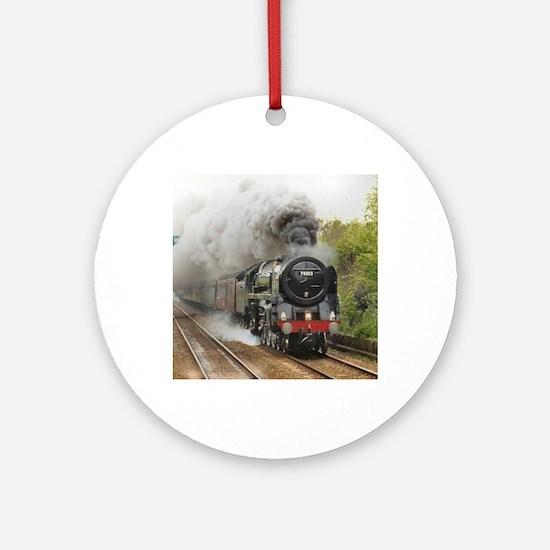locomotive train engine 2 Round Ornament