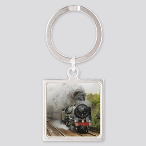 locomotive train engine 2 Square Keychain