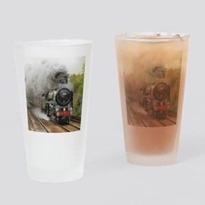 locomotive train engine 2 Drinking Glass