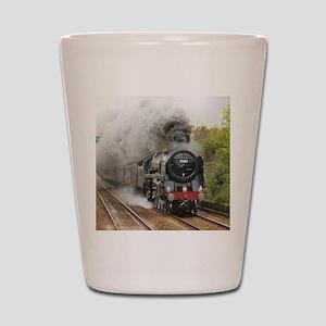 locomotive train engine 2 Shot Glass