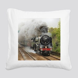 locomotive train engine 2 Square Canvas Pillow