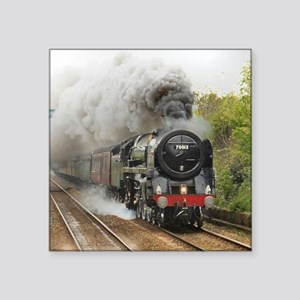 "locomotive train engine 2 Square Sticker 3"" x 3"""