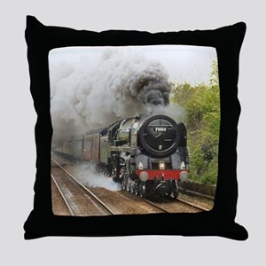 locomotive train engine 2 Throw Pillow