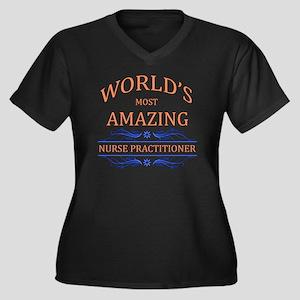 Nurse Practi Women's Plus Size V-Neck Dark T-Shirt