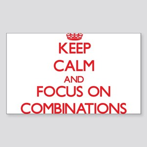 Keep Calm and focus on Combinations Sticker