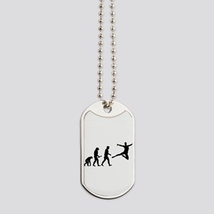 Leaping Evolution Dog Tags