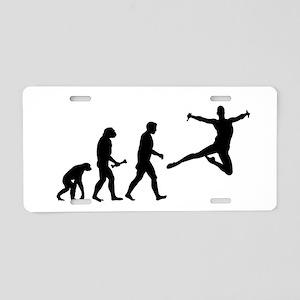 Leaping Evolution Aluminum License Plate