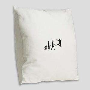 Leaping Evolution Burlap Throw Pillow