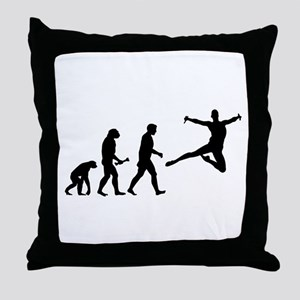 Leaping Evolution Throw Pillow