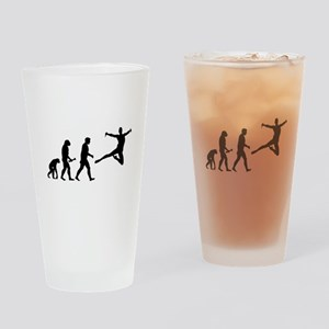 Leaping Evolution Drinking Glass