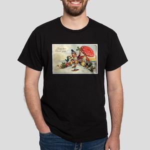 vintage gnome/mushroom Dark T-Shirt