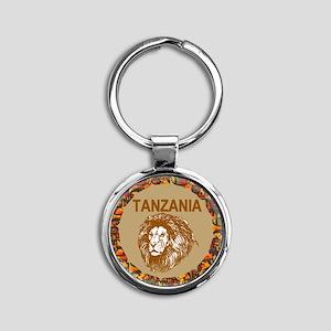 Tanzania With Lion Keychains