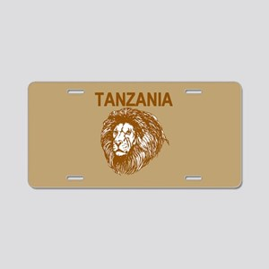 Tanzania With Lion Aluminum License Plate