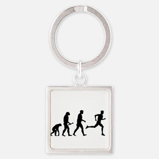 Male Runner Evolution Keychains