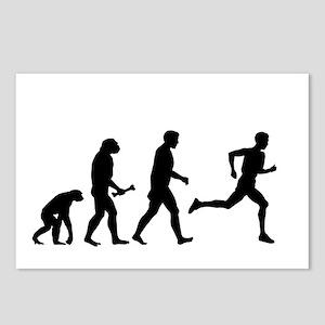 Male Runner Evolution Postcards (Package of 8)