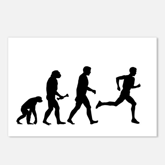 Male Runner Evolution Postcards (Package of 8)