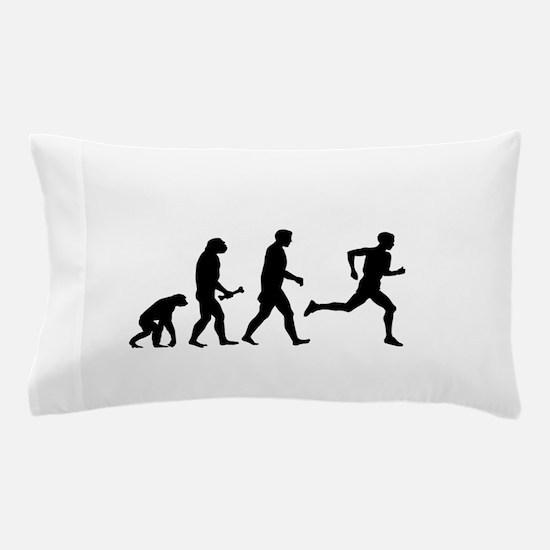 Male Runner Evolution Pillow Case