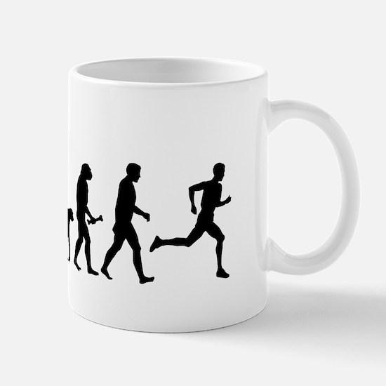 Male Runner Evolution Mugs