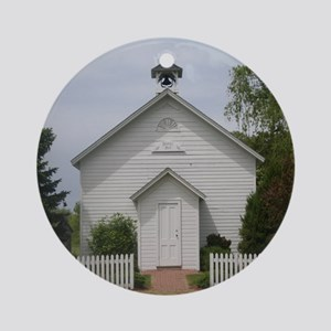 Old Schoolhouse Ornament (Round)