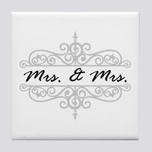 Mrs. And Mrs. Lesbian Wedding Gift Tile Coaster