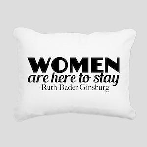Feminist RBG Quote Rectangular Canvas Pillow