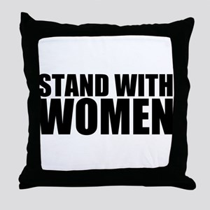 Stand With Women Throw Pillow