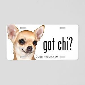 Got Chi? (fawn) Aluminum License Plate