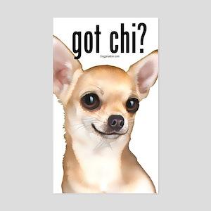 Got Chi? (fawn) Sticker (Rectangle)
