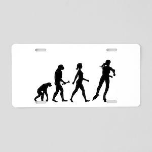 Inline Skating Evolution Aluminum License Plate