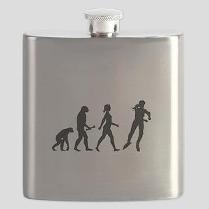 Inline Skating Evolution Flask