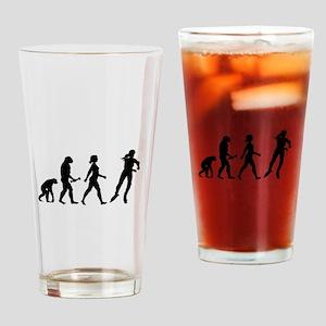 Inline Skating Evolution Drinking Glass