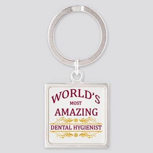 Dental Hygienist Square Keychain