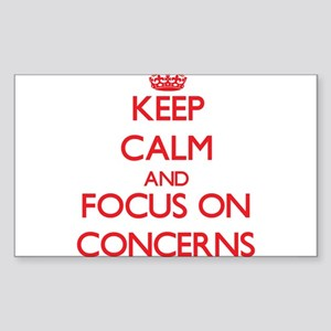 Keep Calm and focus on Concerns Sticker