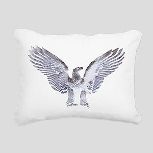 White Eagle Rectangular Canvas Pillow