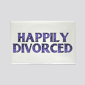 Happily Divorced Rectangle Magnet