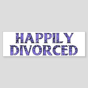 Happily Divorced Bumper Sticker