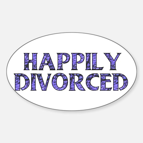 Happily Divorced Oval Decal