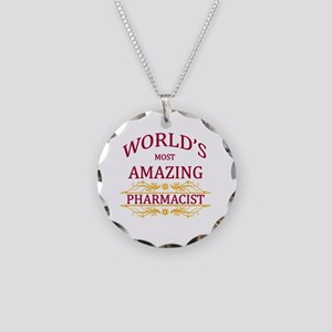 Pharmacist Necklace Circle Charm